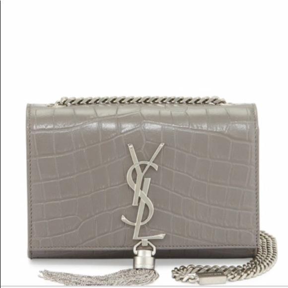 Saint Laurent tassel chain bag croc embossed. M 5ade15da2ab8c509849e4f20 16e3dfddba25
